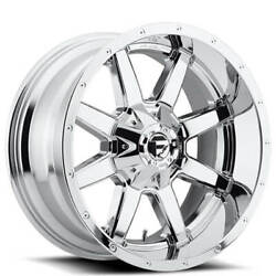 4 22x12 Fuel Wheels D536 Maverick Chrome Off Road Rims B42