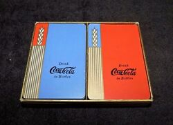 Rare Original 1938 And 1939 Red And Blue Coca Cola Playing Cards  Very Nice