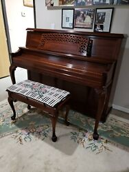 Baldwin Studio Upright Made In Usa With Incredible Sound Art Case