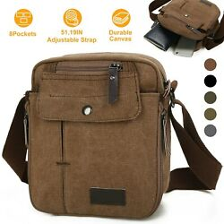 Crossbody Bags Canvas Men Women Messenger Bags Shoulder Bag Satchel Bag Bookbag $13.97