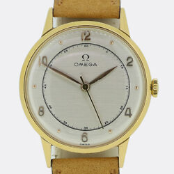 Vintage 1950s Omega Gents Watch 18ct Yellow Gold