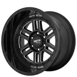 4 22 Moto Metal Wheels Mo800 Deep Six Gloss Black Milled Off Road Rimsb42