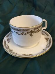 Wardair Airline Vintage Royal Doulton Repton Pattern China Tea Cup And Saucer