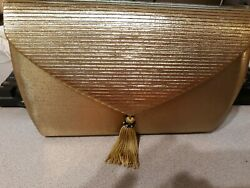 Gold Clutch Purse Preowned $10.00