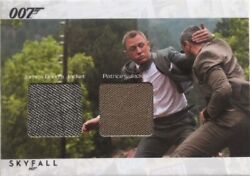 James Bond Autographs And Relics Scdc2 Character Dual Costume Card