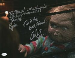 Ed Gale And Alex Vincent Signed 11x14 Childs Play Photo Quote Jsa Coa Autograph