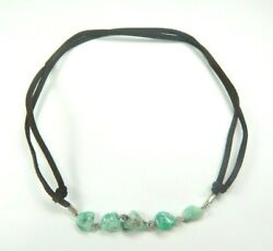 Colombian Emerald Natural Raw Crystals 21.50 Cts Necklace Silver 950 Muzo Mines