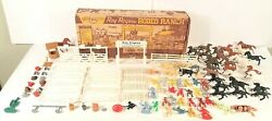 Vintage Marx Roy Rogers Rodeo Ranch Playset Series 1000 No. 3988 With Box Rare