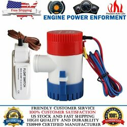 1100 Gph 12v Marine Boat Submersible Plumbing Bilge Pump With White Float Switch