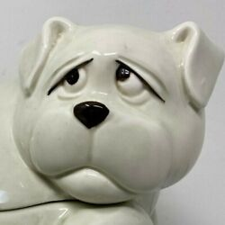 Fitz And Floyd Simply Cute Sad Dog Treat Cookie Jar 2 Piece 1979 Perfect Large