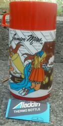 New Vintage Junior Miss Lunchbox Thermos Only Aladdin 1970 Made In Usa Red