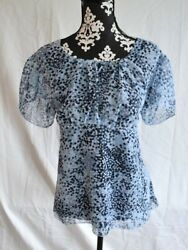 Nwt Studio 1940 Womens Blouse Size 18/20w Blue Polka Dot Multi Color Dots
