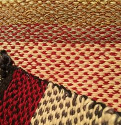 Navajo Twill Rug Pony Saddle Blanket Throw Antique Native American Indian 1890