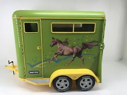 Rare 2002 BREYER Traditional Large Green Horse Trailer 1:9 SCALE Excellent Cond.