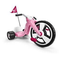 Girls Chopper Tricycle Big 16 Front Wheel Adjustable Seat Plastic To 65 Lb Pink