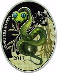 Niue Islands 2013 - 1 - Year Of The Snake - Chinese Snake - 28.28g Silver Coin