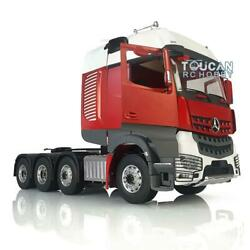 1/14 Lesu Rc Metal Chassis Rack Hercules Actros Benz Cabin Tractor Truck Painted