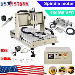 1.5kw Usb Port 6040 5-axis Cnc Router Engraving Machine Metal Milling Machine