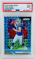 2018 Prizm Josh Allen Rc Blue Lazer Rookie 205 Psa 9 Bills Sp Mint 💎
