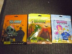 New 5 Oz Slime Re-seal-able Pouch Zombie Heads Mermaid Shells Or Dinosaur Parts