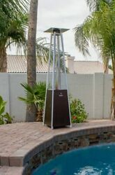 🔥 Hiland HLDSO1 Pyramid Patio Propane Heater w Wheels Bronze 87 inches NEW🔥