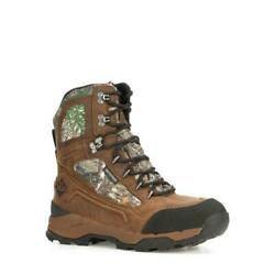 Muck Boot Men#x27;s Summit Lace 8quot; Waterproof leather Boot Black Chocolate Brown $42.74
