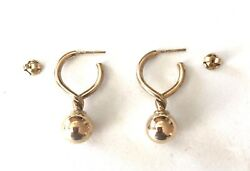 Sale--solid 9ct Yellow Gold Drop Earrings,see Other Jewelry,coins , Gold.