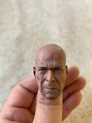 Custom 1 6 Scale Bruce Willis Head Sculpt For 12quot; Hot Toys Figure Action