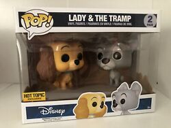 Lady And The Tramp 2-pack Disney 2016 Hit Topic Exclusive Funko Pop Vaulted