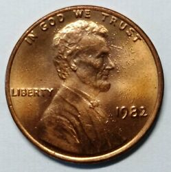 1 Cent Lincoln Memorial Cent - 1982 - Occluded Gas Bubbles Error