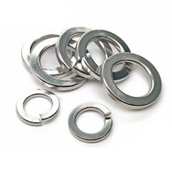 Section Split Locking Washers M2-m24 Spring Washers 316 Stainless Steel - Square