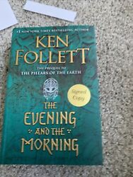 *AUTOGRAPHED SIGNED* The Evening and the Morning by Ken Follett HARDCOVER NEW $75.00