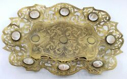 Amazing Antique Victorian Grand Tour 8 Shell Cameos Story Teller Ornate Tray