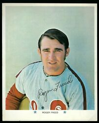 Roger Freed - Autographed 8 X 10 Picture - 1971 Arco Gas - Vintage - Phillies