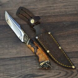 Hunting Knife Survival Combat Tactical Fixed Blade Leather Sheath. 28 Pirate