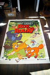 Fox And The Hound Walt Disney 4x6 Ft Vintage French Grande Poster 1981