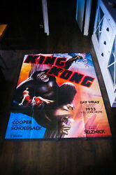 King Kong Rko 1933 4x6 Ft Vintage French Grande Movie Poster Rerelease 1970's