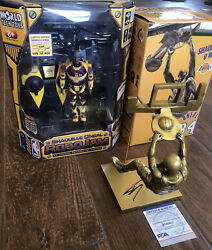 La Lakers Shaquille O'neal Limited Edition Robo Jam Figure And Signed Shaq Statue