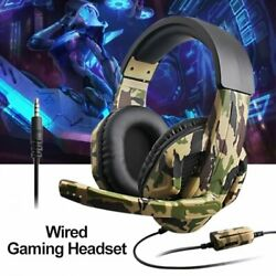 Gaming Headset Stereo Surround Headphone Wired For Pc Laptop Computer Ps4 Ps3