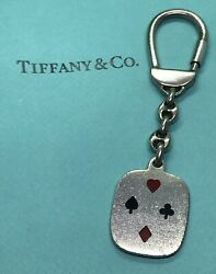 And Co. Playing Cards Heart Diamond Clover Spade Ss Keychain Keyring Rare