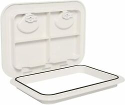 Marine Deck Access Hatch Andlid With Lock White Hatch17-1/4length X12-3/8width