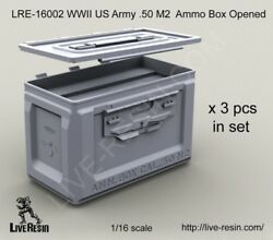 Live Resin 1/16 Lre-16002 Wwii Us Army .50 M2 Ammunition Ammo Box Opened
