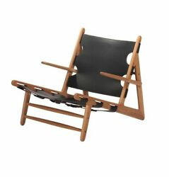 Jase Lounge Chair, Modern Mid-century Luxury Design, Wood And Leather