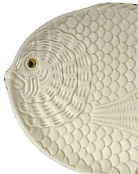 Fitz And Floyd Fish Platter Vintage 1975 Hand Painted Ivory Dish Euc