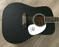 Jimmie Allen Signed Autograph Black 41 Full Size Acoustic Guitar W/exact Proof