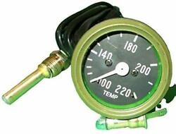 Water Temperature Gauge Fits Willys Mb Jeep Fd Mb, Gpw, Cj2a, Cj3a And Early