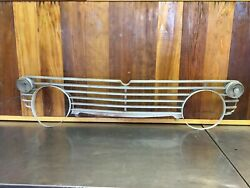 Triumph Tr4a Tr250 Andbull Original Front Grille + Turn Signal Lamps. Used.  Lt36