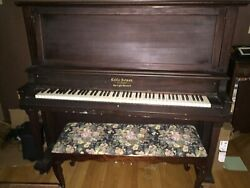 Antique Cable-nelson Upright Grand Piano Totally Refurbished Action