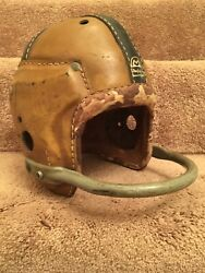 Macgregor Authentic H612 Leather Suspension Football Helmet Rare 1-bar Facemask