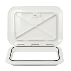 White Deck Hatch Boat Deck Hatch Access Hatch And Lid With Lock 14-3/4x 10.6